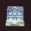 Fève à l'unité Tibère et la maison bleue n°1 / 0.8p27d6