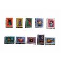 Série complète de 10 fèves Epiphanie timbrée