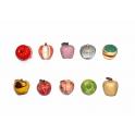 Série complète de 10 fèves Pommes en forme