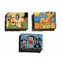 Série complète de 12 fèves Puzzle Betty Boop vintage