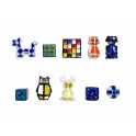 Série complète de 10 fèves Rubik's génération 3