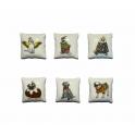 Série complète de 6 fèves Monoprix - Coussins