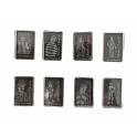 Série complète de 8 fèves Charlot burlesque laser 2021