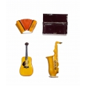 Série complète de 4 fèves Instrument de musique médium