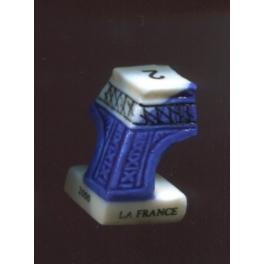 Fève à l'unité La France salue l'an 2000 n°1 / 0.5p2a5