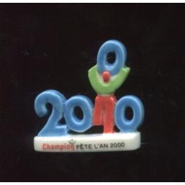 Fève à l'unité Champion fête l'an 2000 n°1 / 0.5p20a6