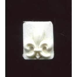 Single plastic feve from Fleur de lys n°1 / 0.5p24d3