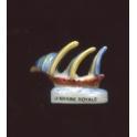 Fève à l'unité La marine royale II n°4 / 0.8p1f10